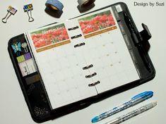 Design by Suzi: DIY kalendár do diára Diy Calendar, Notebook, Bullet Journal, Design, Notebooks, Scrapbooking