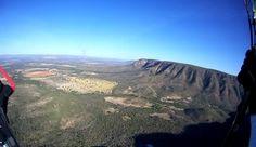 Indo em direção à área do pouso oficial no meu primeiro voo, Vale do Paranã, Formosa/GO.