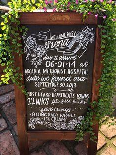 Chalkboard Easel/wedding Chalkboard/chalkboard With Stand/baby Shower…