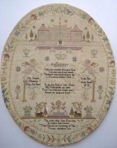 GEORGIAN NEEDLEWORK SAMPLER MARY ANN THOMAS