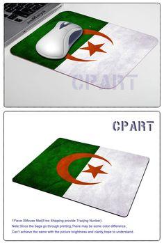 Free Shipping Vintage Algeria Flag Gaming Gamer Comfort Mousepad for Optical Laser PC Mouse