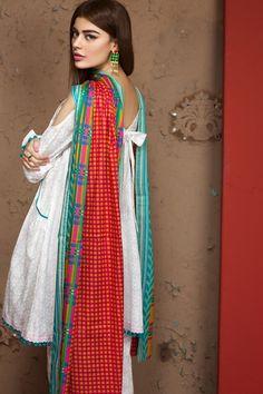 Khaadi 3 Piece Stitched Embroidered Lawn Suit - B17208 - WHITE - libasco.com    #khaadi #khaadionline #khadiclothes #khaadi2017 #kaadisummer