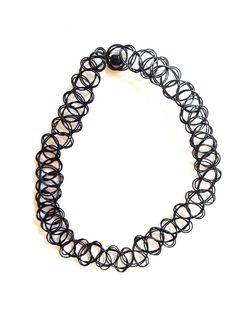 90s Tattoo Choker Bracelet / Necklace / Ring Set by xBLINGRINGx