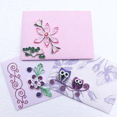 Paper Quilling EnvelopesMiniSmallGift Card by EnchantedQuilling, $7.50