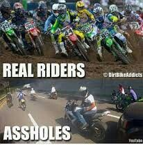 People get of roads get on a 2 stroke and rip up that muddy dirt Dirtbike Memes, Motocross Quotes, Dirt Bike Quotes, Motorcycle Memes, Biker Quotes, Motocross Funny, Motocross Racer, Motocross Bikes, Bmx