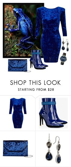 """""""Cold Blooded 2/5 - Frogs"""" by giovanina-001 ❤ liked on Polyvore featuring Miss Selfridge, Off-White, Halogen, Kenneth Cole and Movado"""