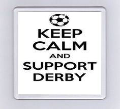Keep Calm And Support Football Drink Coaster - Derby County Derby County, Hereford, Drink Coasters, Keep Calm, Household, How To Apply, Football, Drinks, Soccer