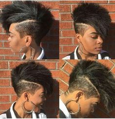 My Natural Hair Tapered Undercut Dope Hairstyles, Curly Mohawk Hairstyles, Shaved Hairstyles, Black Hairstyles, Curly Hair Styles, Natural Hair Styles, Shaved Hair Designs, Tapered Natural Hair, Pelo Afro