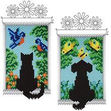 Silhouette Beaded Banner Kits, Set of 2 - Herrschners