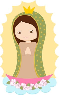 Our Lady of Guadalupe Blessed Virgin Mary, Catholic Saints, Mother Mary, First Communion, Clipart, Painted Rocks, Art Projects, Hello Kitty, Images