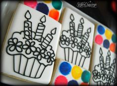 Birthday paint your own cookies.