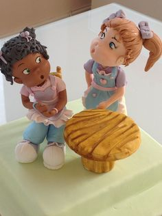 """#doll #cake topper, #birthday, sugar dolls from Stardust Cakes. #""""stardust cakes"""", #tea party"""
