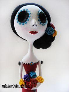 Day of the Dead Doll - Dia de los muertos - Art Doll - Made to Order. $95.00, via Etsy.