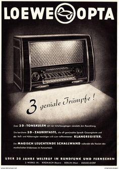 Werbung - Original-Werbung/ Anzeige 1955 - 1/1 SEITE: LOEWE OPTA RADIO - ca. 230 x 320 mm