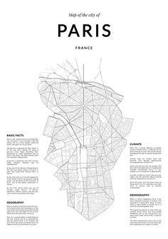 Paris map Paris wall art Wall Art Paris print by LionartPrints