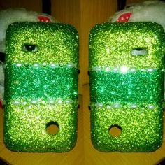 Green glitter phone cover !!! Available for sale :) Get your own customized cover for any mobile For more details comment below :)