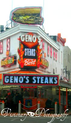 Geno's Steaks, Philadelphia PA #Genos
