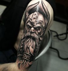 Best Arm Tattoos for Men and Women Cool Arm Tattoo Designs and Ideas Updated Daily – Fake Tattoos & Temporary Tattoos Thor Tattoo, 27 Tattoo, Rabe Tattoo, God Tattoos, Sick Tattoo, Cool Arm Tattoos, Norse Tattoo, Warrior Tattoos, Tattoo Motive