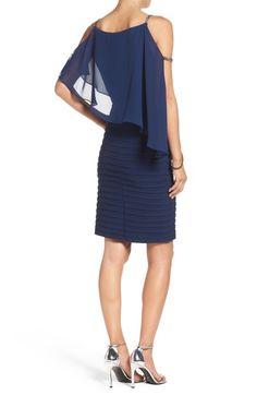 Main Image - Adrianna Papell Embellished Cold Shoulder Jersey Sheath Dress