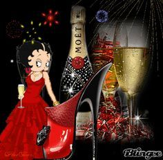 betty boop happy new year Pictures [p. Happy New Year Gif, Happy New Year Pictures, Happy Birthday Betty Boop, Photos Nouvel An, An Nou Fericit, Black Betty Boop, Boop Gif, New Year Art, Betty Boop Cartoon