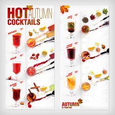 Menu-infographics (Autumn cocktails) on Behance