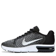 Nike Kids  Air Max Sequent 2 Running Shoe Grade School Shoes (Black White f6c0544721