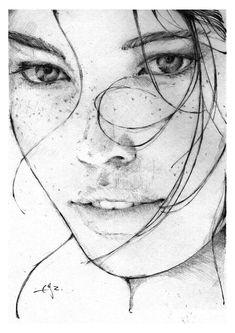 Graphite Model Portraits