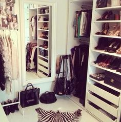 Cute closet #zebra #decor