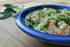 Lemon-Garlic Shrimp with Zucchini Noodles and Spinach – fastPaleo