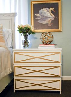 The REDBOOK office let out a collective whoop when we discovered myoverlays.com. This genius store sells premade decorative panels that easily affix to furniture, totally transforming the look of it. The photo above? That's an Ikea dresser with a spray-painted overlay glued on. Most sell for around $20, a nice price for a unique piece custom-made for your room.   - Redbook.com