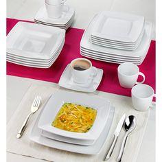 Serwis obiadowo-kawowy Lubiana Victoria Biała 6 os/30 el Talerz głęboki + GRATIS! 49 ZŁ