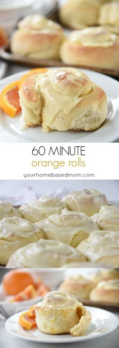 60 Minute Orange Rolls Recipe - these are as quick, easy and delicious as they sound. 60 minute orange rolls are light, fluffy, orangey and so yummy!