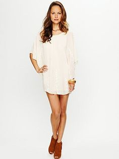 Now the proud owner of this gorgeous Free The People cape dress <3