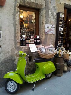 I'm gonna be the dork riding around Italy on a lime green Vespa.