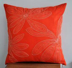 Orange+Throw+Pillow+Cover+18x+18+Pillow+Cover+Orange+by+KainKain
