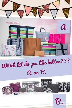 Join my team before January 21st and get the kit on the bottom. Sign up January 21st or later and the kit on top is yours! Just $99! Which do you love best? www.mythirtyone.com/cathycouch