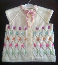 Girl child knitting vest model – Nuray Şenol – Join the world of pin Arm Knitting, Knitting For Kids, Baby Knitting Patterns, Knitting Designs, Crochet Patterns, Crochet Kids Hats, Knitted Hats, Knit Crochet, Cardigan Bebe
