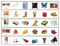 The Helpful Garden: 5 Senses Matching Cards and Control Sheet