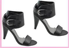 NOVELA® Women's' GORGEOUS Ankle Band BLACK SANDALS Shoes . SZ 6