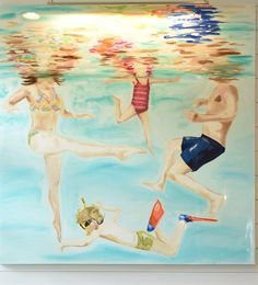 An underwater family portrait I painted for some of my favorite peoples beach home! I LOVE to paint reflections! I am daydreaming of summer and had to post! Painting People, Figure Painting, Drawing People, Cute Paintings, Acrylic Paintings, Underwater Painting, Lake Art, Plant Painting, Beach Artwork