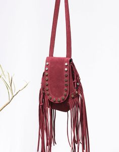 MINI BAG WITH FRINGING AND STUDS - FESTIVAL COLLECTION - WOMAN - PULL&BEAR Greece