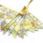 Pretty Yellow Bunting by Merry-Go-Round on Madeit
