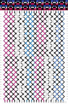 схема фенечки со следами животных