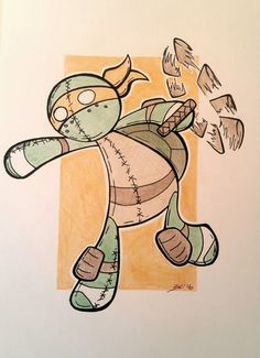 OP: Teenage mutant ninja turtles. Commissioned. - Shabby Blog