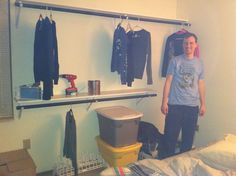 How to turn a spare bedroom into a dream closet/dressing room. DIY