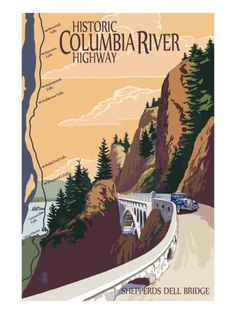 Columbia River Gorge, Oregon - Historic Columbia River Highway