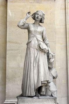Jeanne d'Arc écoutant ses voix (Joan of Arc listening to her voices) by François Rude