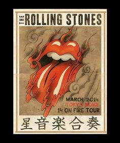 arian buhler poster design for the rolling stones tour Rolling Stones Logo, Rock N Roll, Concert Rock, Tokyo Dome, Tour Posters, Band Posters, Mick Jagger, Vintage Music, Shows