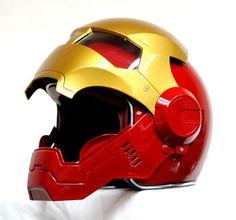 Brand New Masei Red-Gold IronMan 610 Motorcycle Helmet - All sizes available: Masei Attomic Man 610 Red-Gold Motorcycle… #OnlineMarket