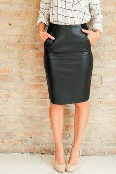 Natalia Vegan Leather Skirt | Glamour and Glow